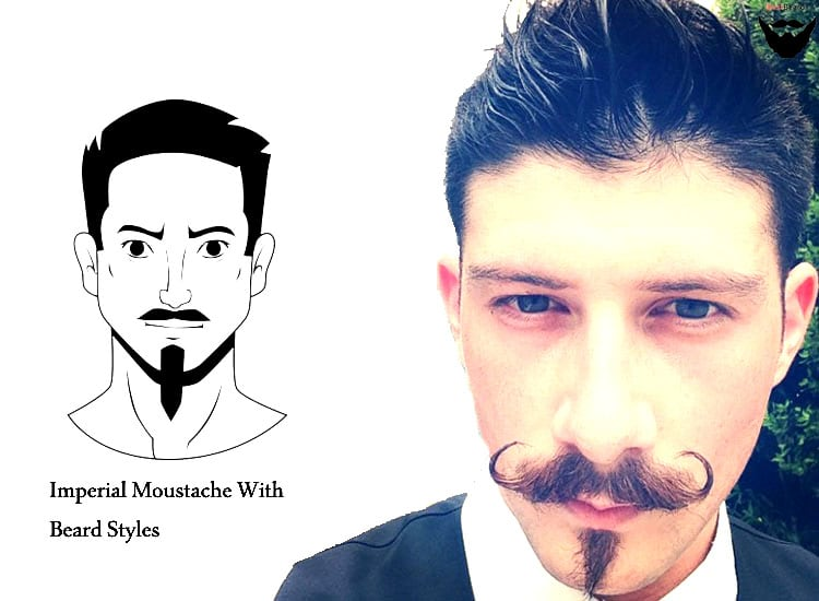 Imperial mustache styles - chin goatee - moustache styles - handlebar moustache with beard styles