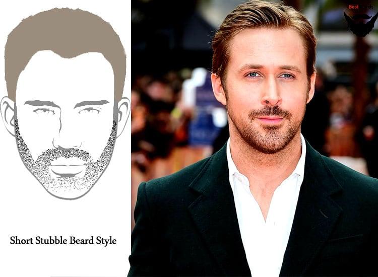 Short Beard - Stubble beard-styles