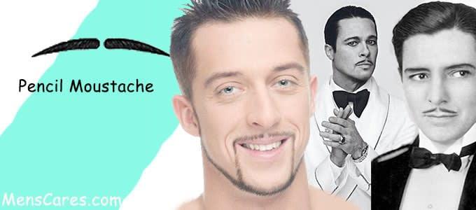 Best Mustache Styles For Men - Pencil Moustache