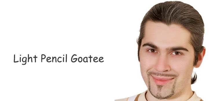 Light Pencil Goatee with Light Mustache: