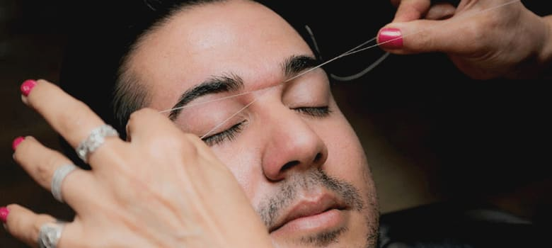 what is eyebrow threading
