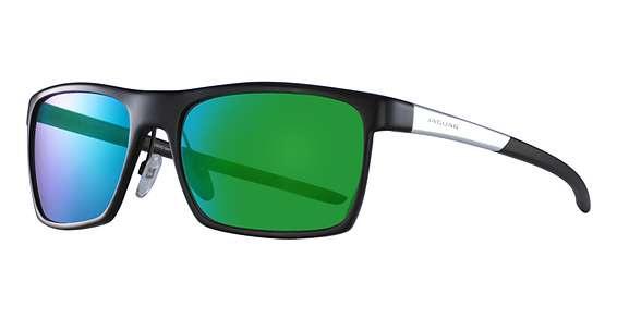 Mat Black-Silver / Green Mirror Lenses (610)