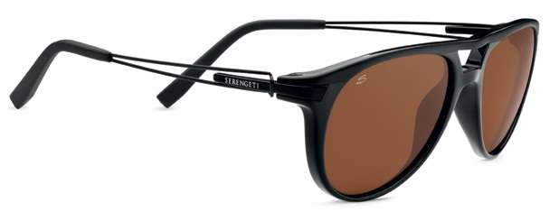 Shiny Satin Black/Polarized Drivers (7758)