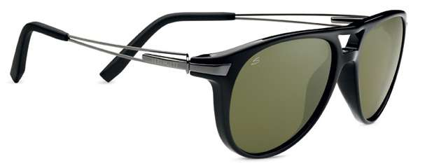 Shiny Black/Polarized 555nm (7756)