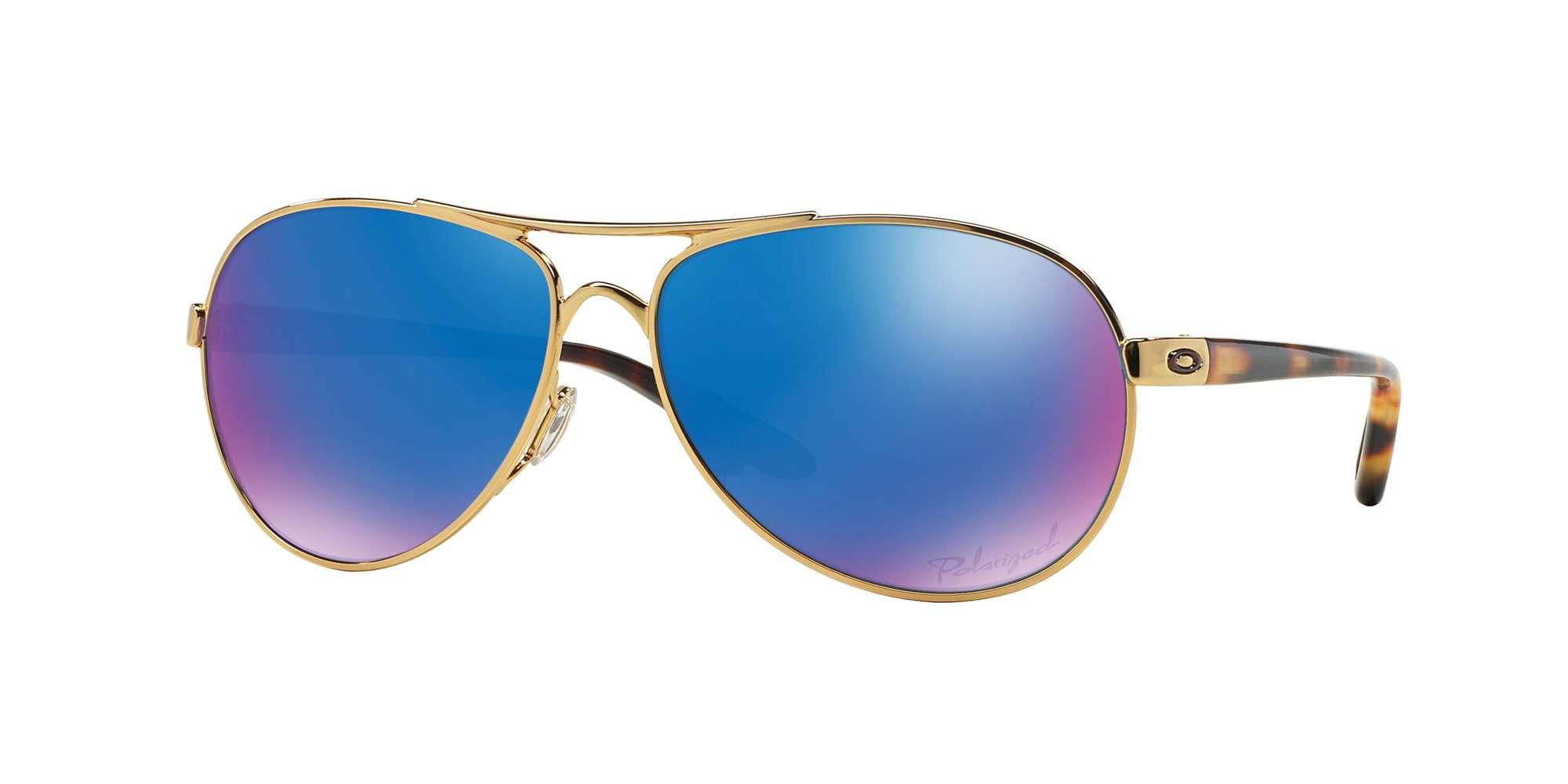 POLISHED GOLD / SAPPHIRE IRID POLAR lenses
