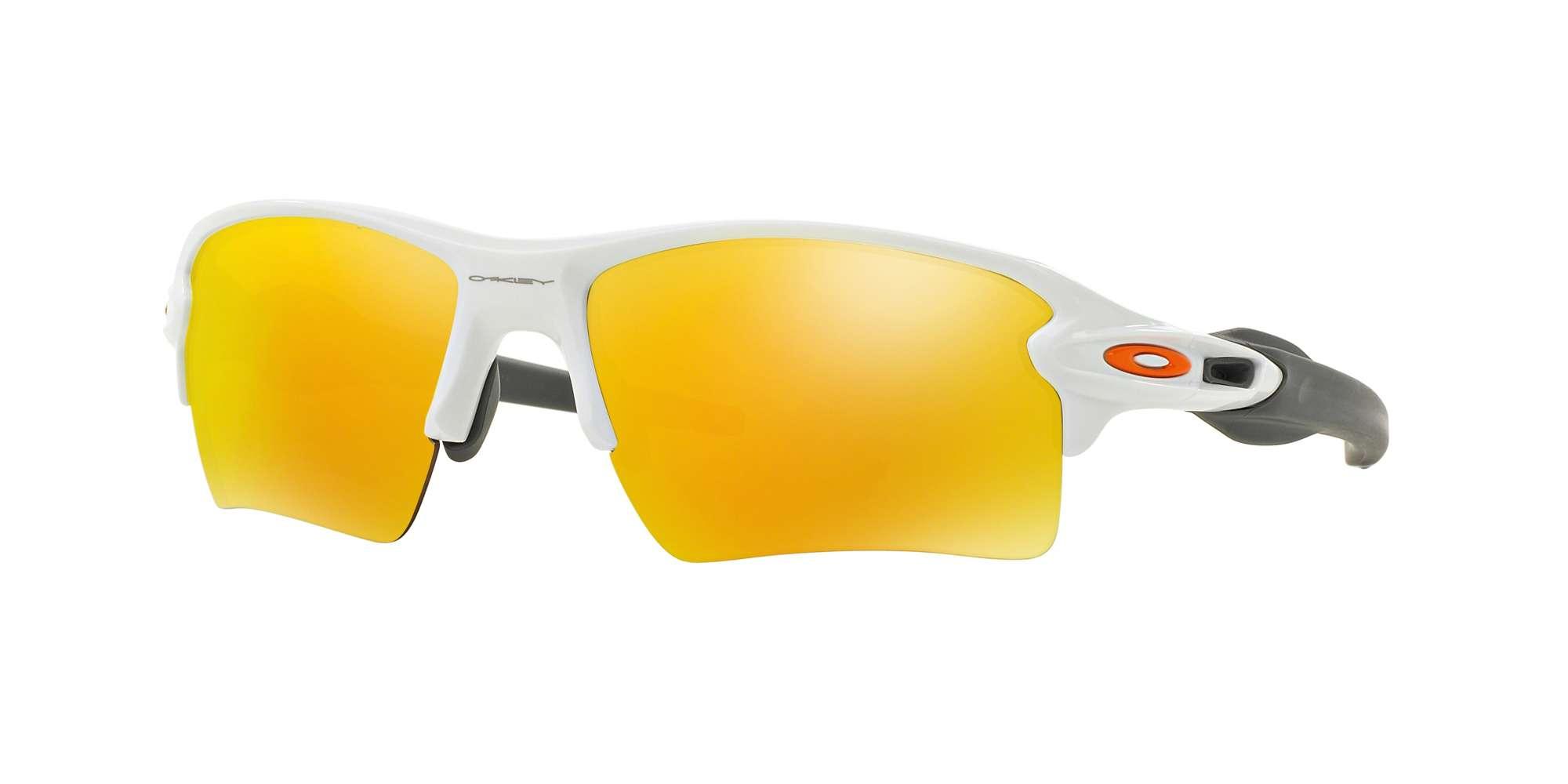 POLISHED WHITE / FIRE IRIDIUM lenses