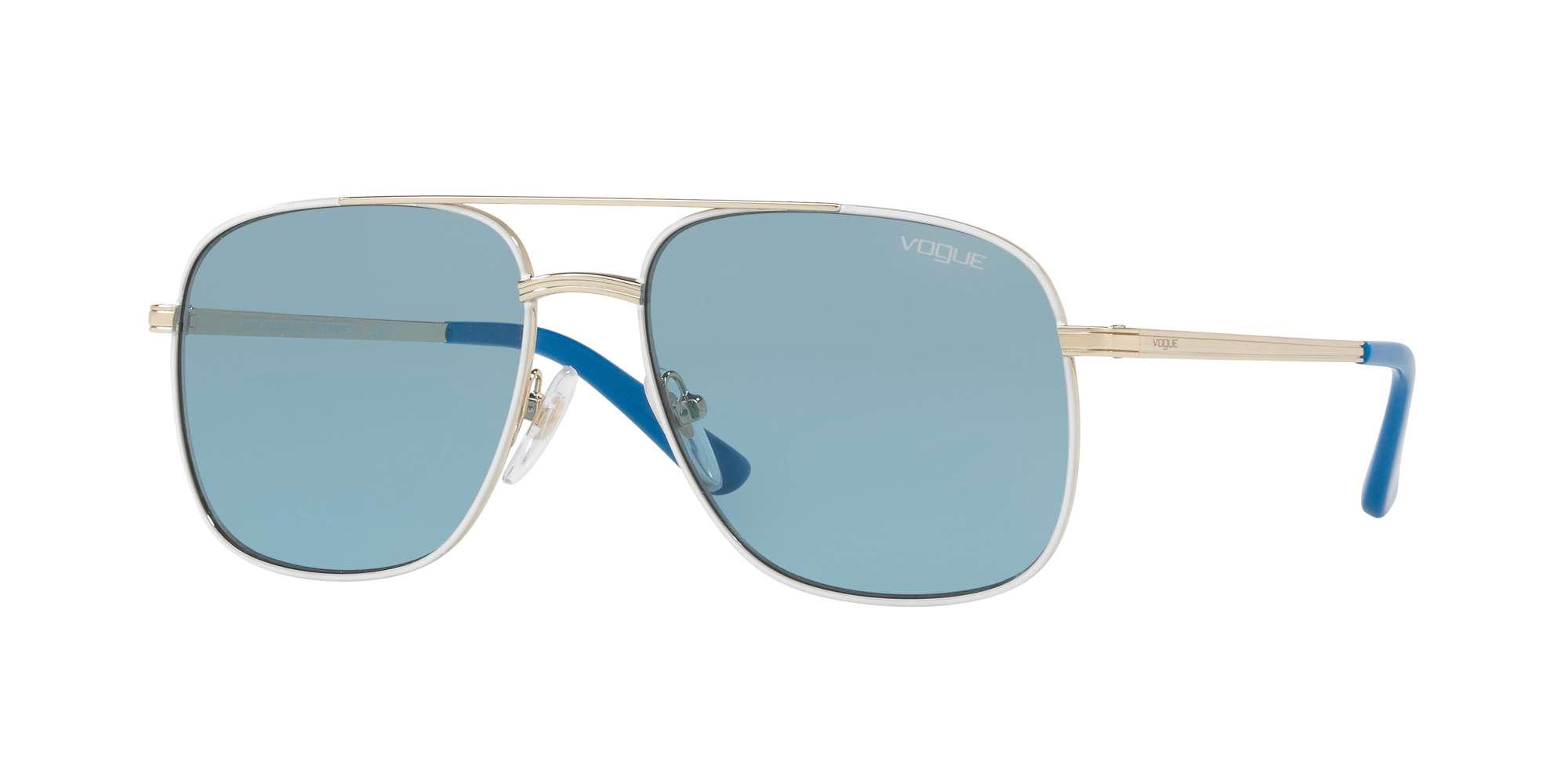 PALE GOLD/WHITE / BLUE lenses