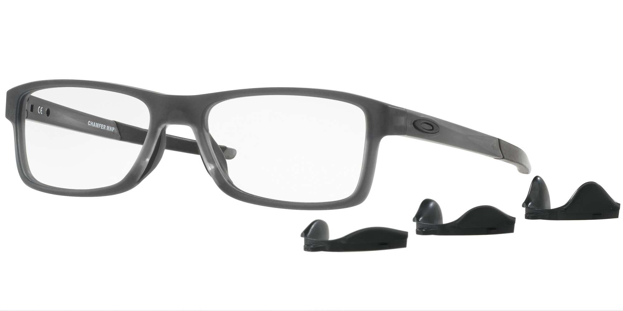 SATIN GREY SMOKE / CLEAR lenses