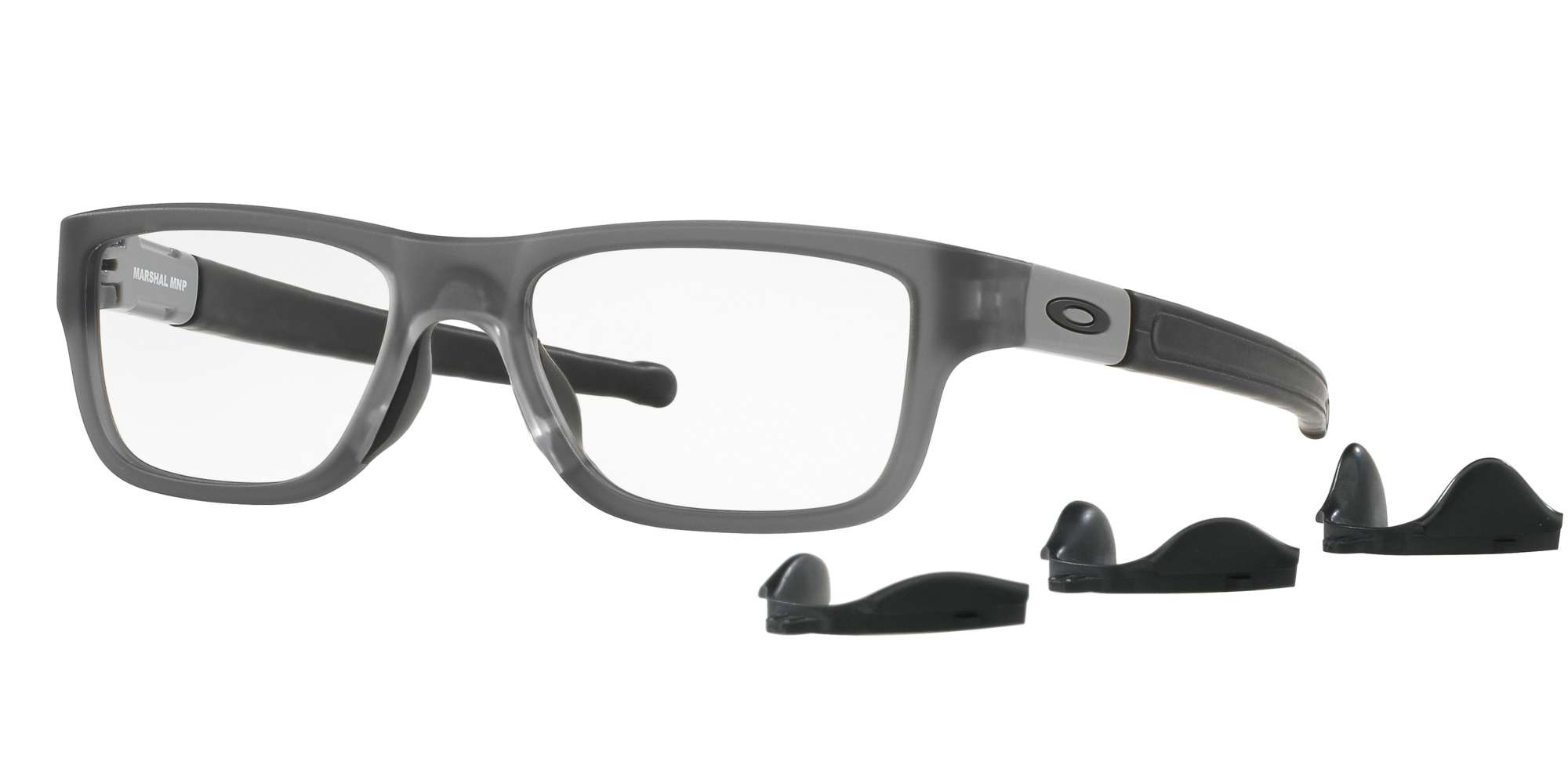 SATIN GREY SMOKE / CLEAR lenses