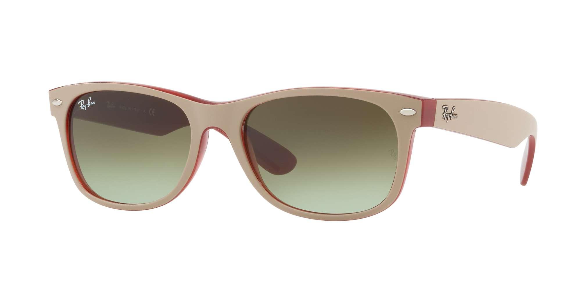 MATTE BEIGE ON OPAL RED / GREEN GRADIENT BROWN lenses