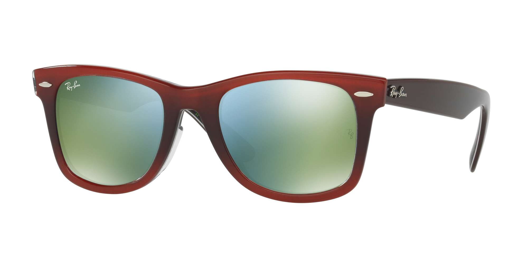 TOP GRAD RED ON LIGHT RE / MIRROR GREEN lenses