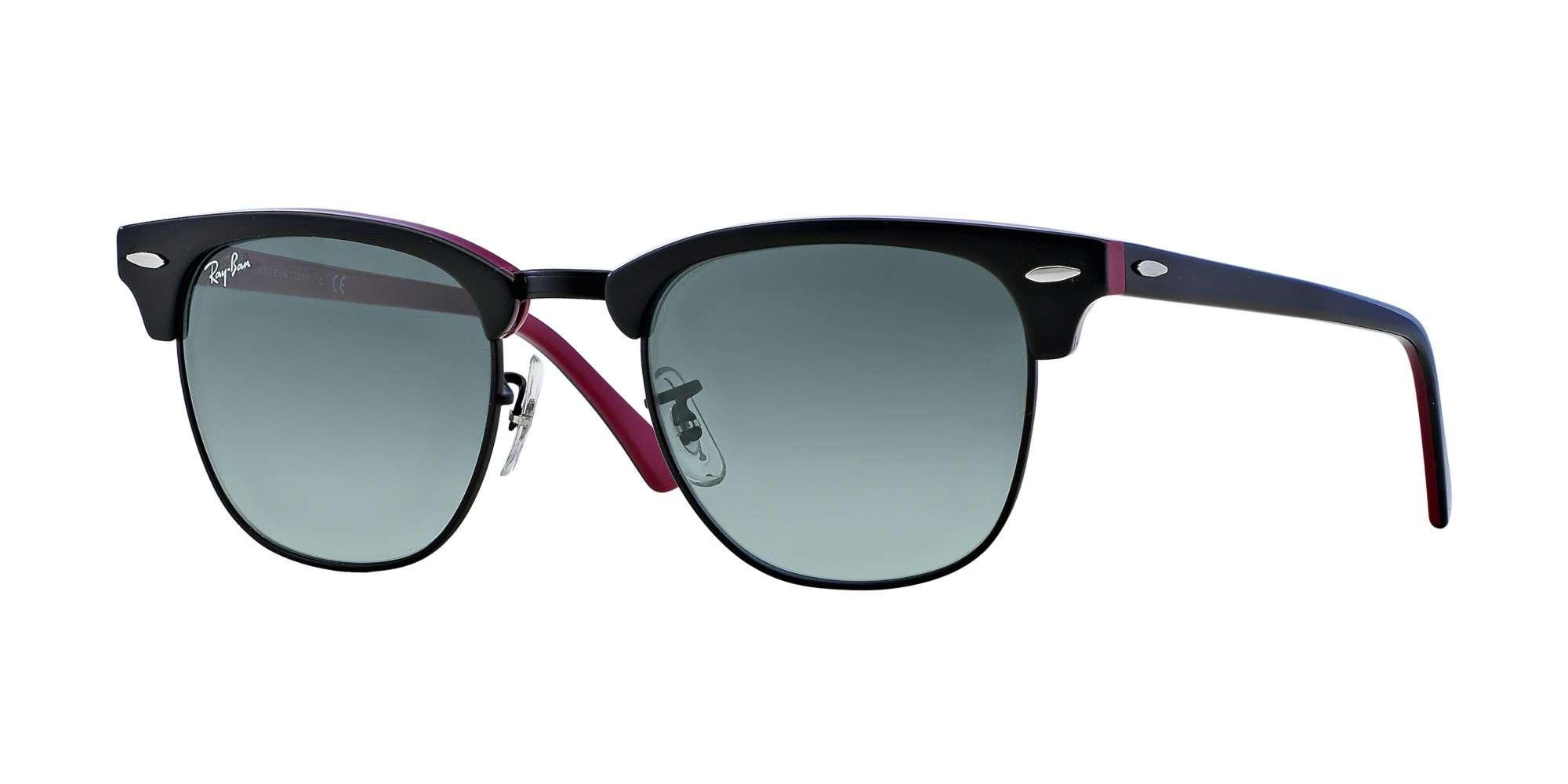 Top Black On Purple/Blac / Crystal Grey Gradient lenses