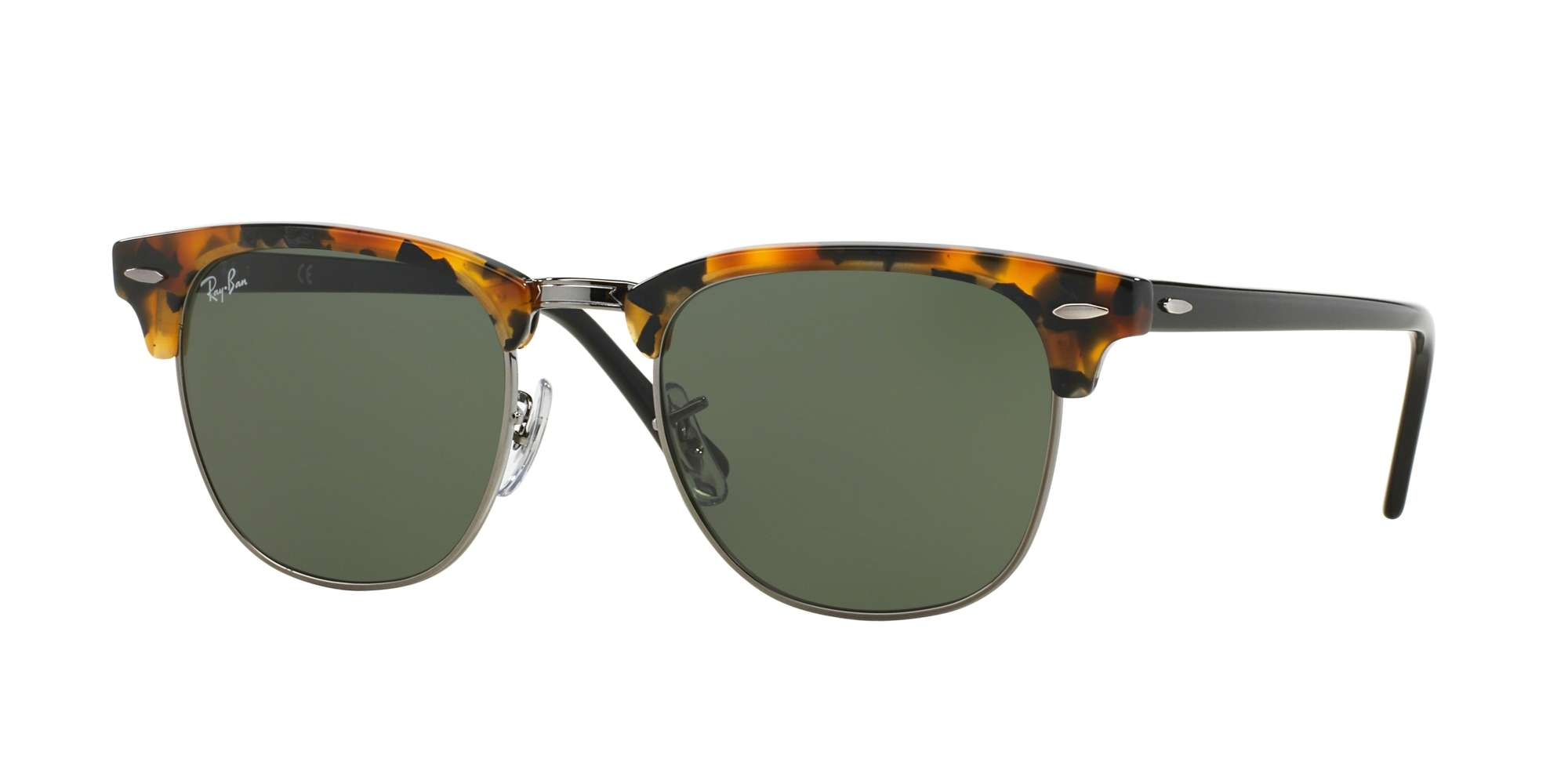SPOTTED BLACK HAVANA / GREEN lenses