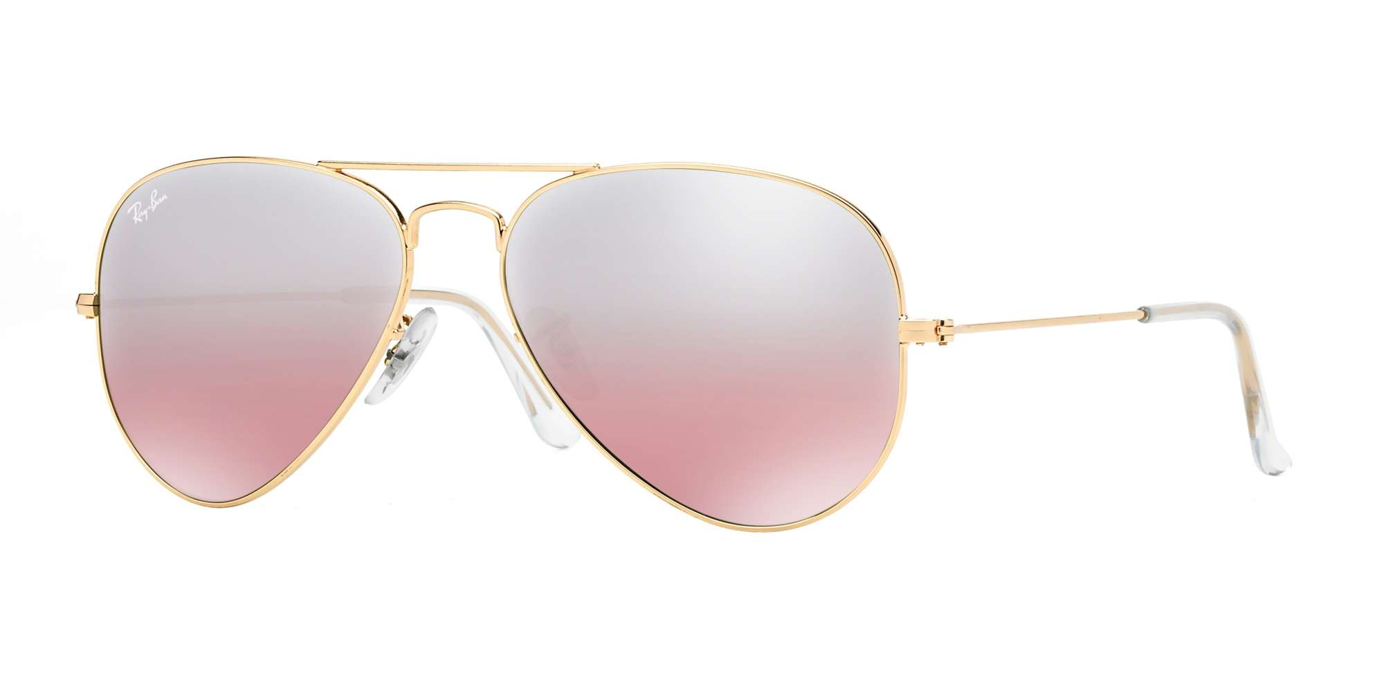 GOLD / Crystal Brown-Pink Silver Mirror lenses