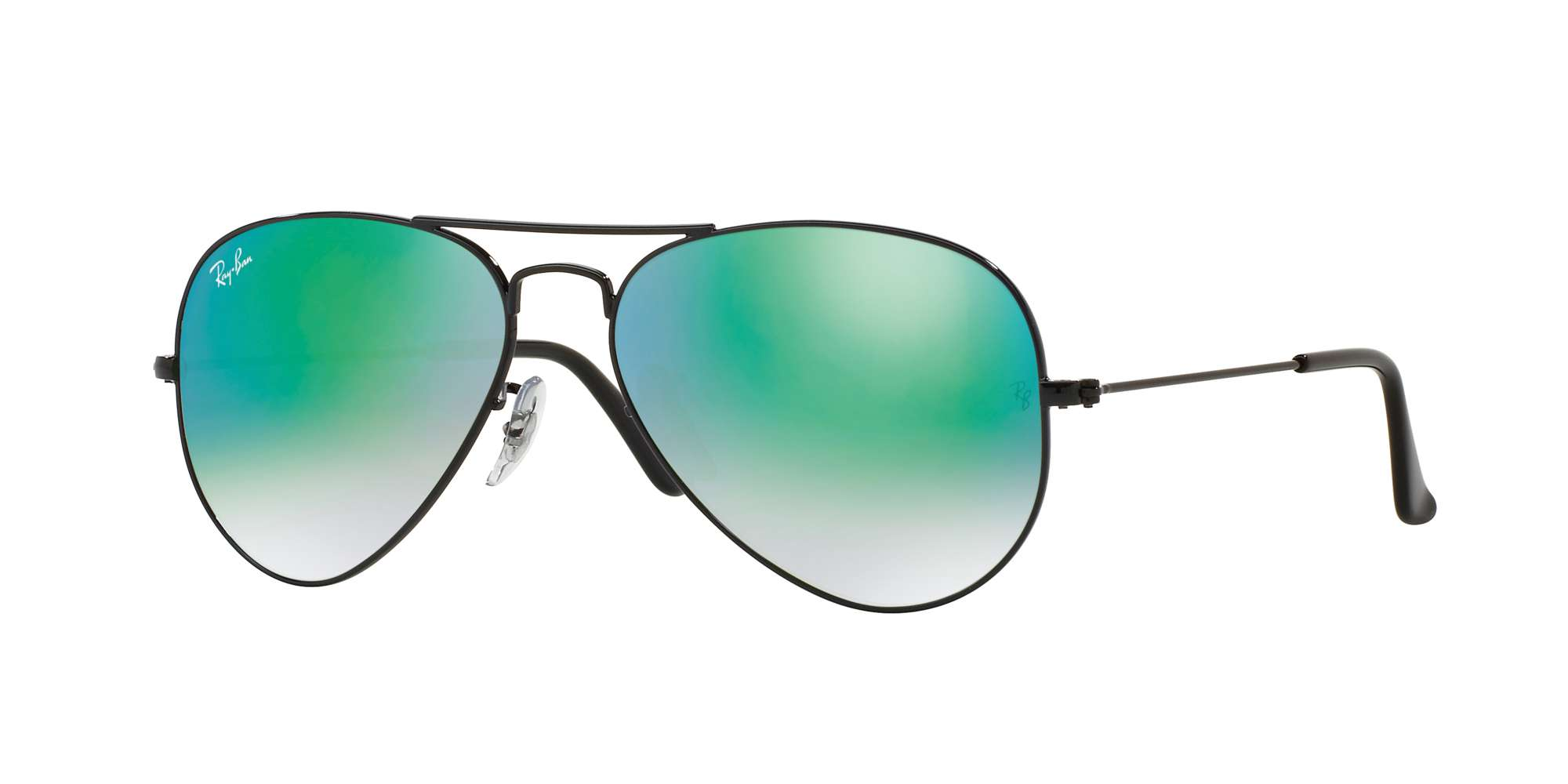 SHINY BLACK / MIRROR GRADIENT GREEN lenses