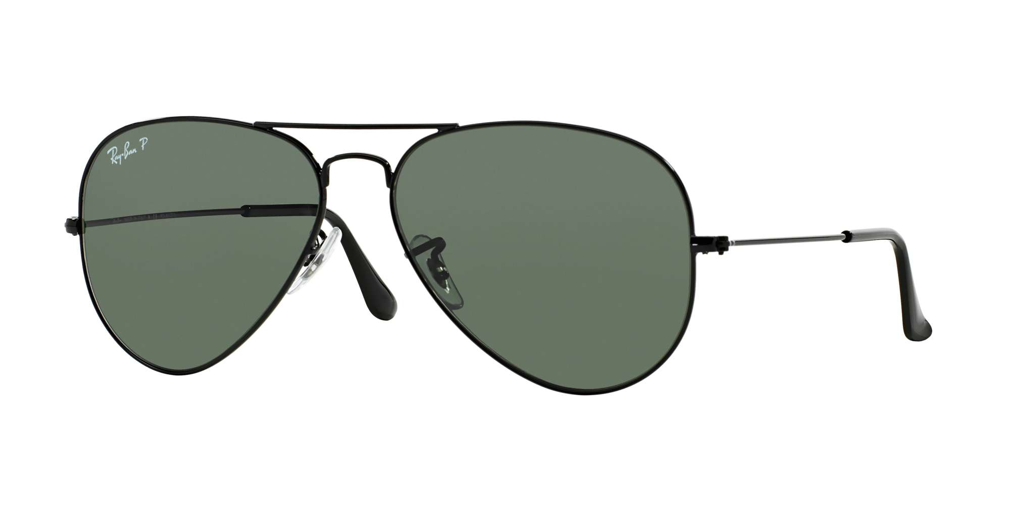 BLACK / CRYSTAL GREEN POLARIZED lenses