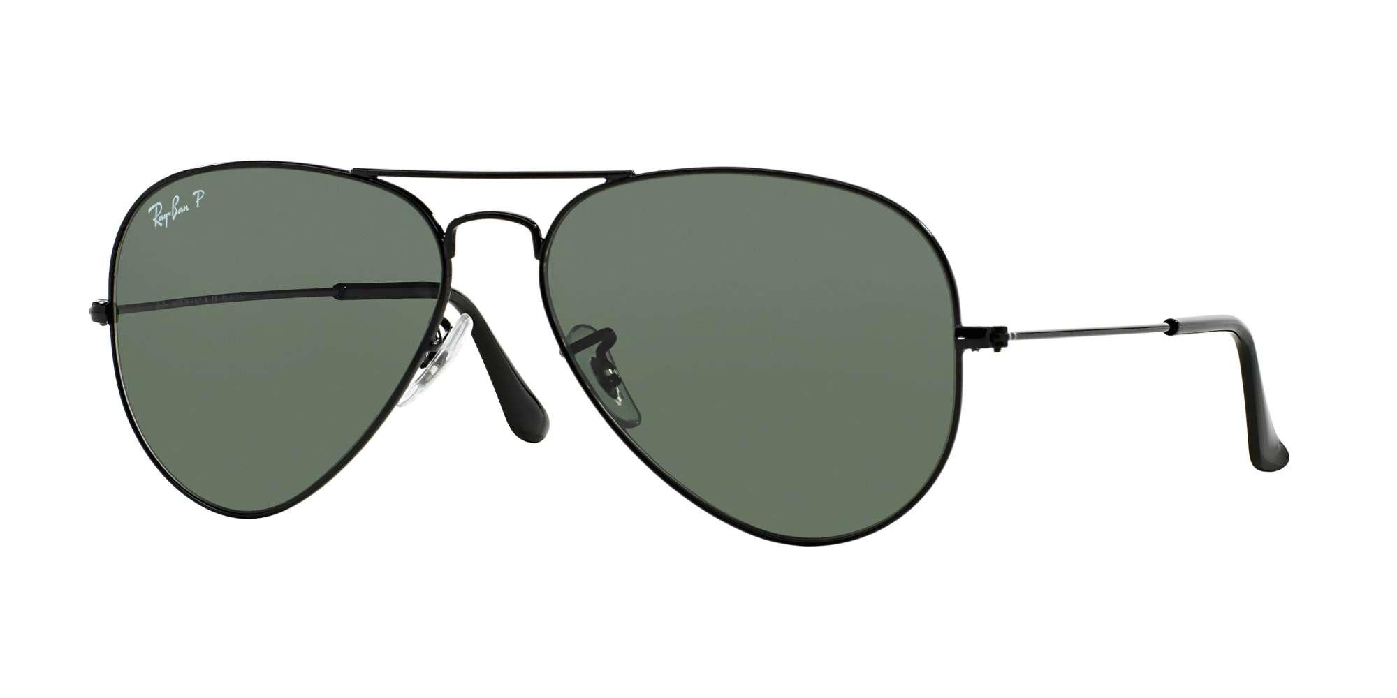BLACK / CRYSTAL GREEN POLARIZED lenses