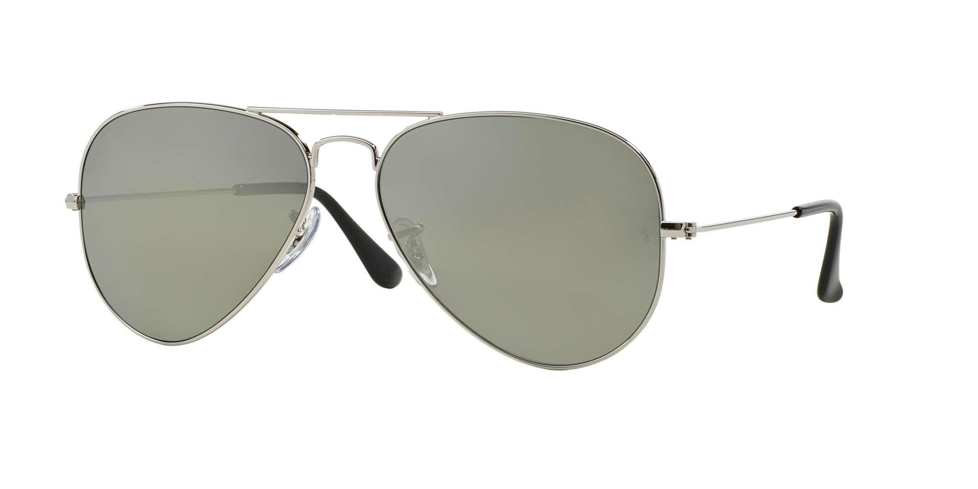 SILVER / Crystal Polarized Green Silver Mirror lenses