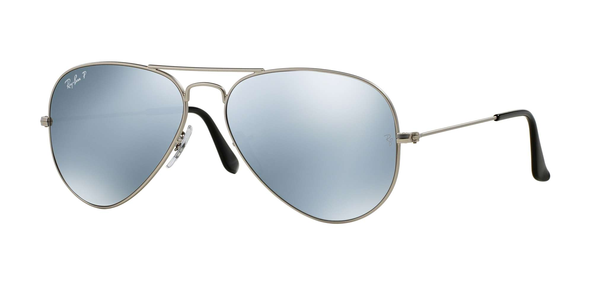 MATTE SILVER / Silver Mirror Polarized lenses