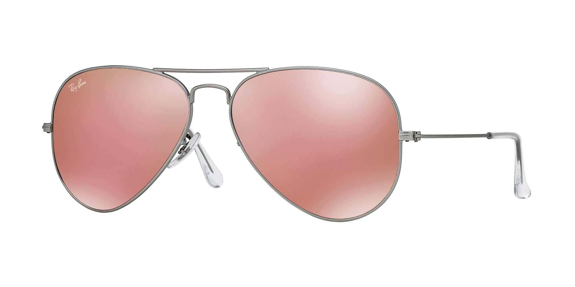 MATTE SILVER / BROWN MIRROR PINK lenses