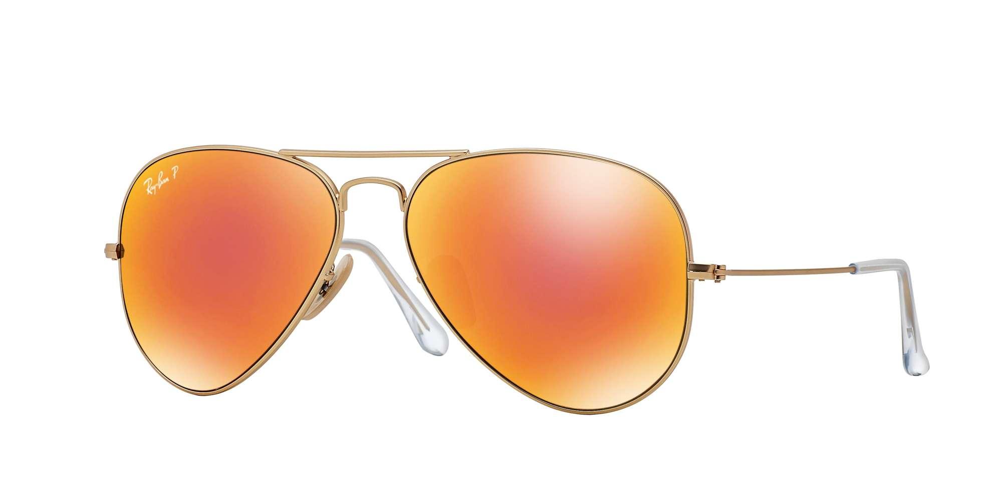 MATTE GOLD / Brown Mirror Red Polarized lenses