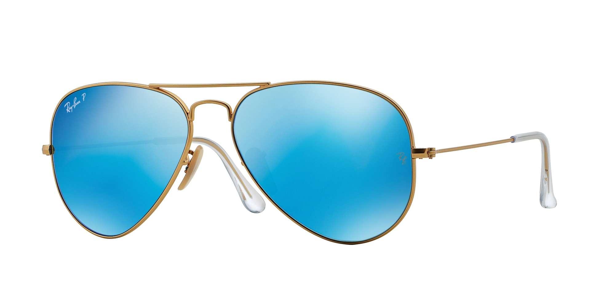 MATTE GOLD / Blue Mirror Polarized lenses