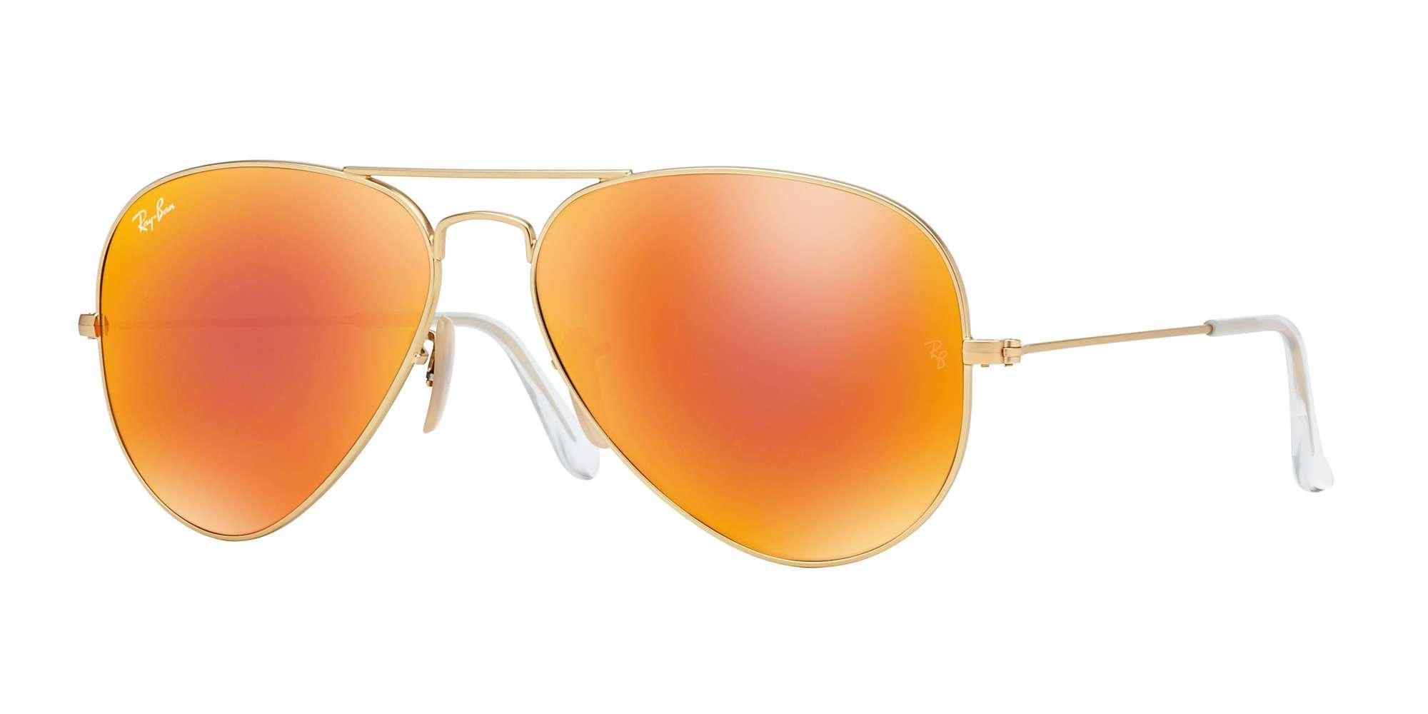 MATTE GOLD / CRYSTAL BROWN MIRROR ORANGE lenses