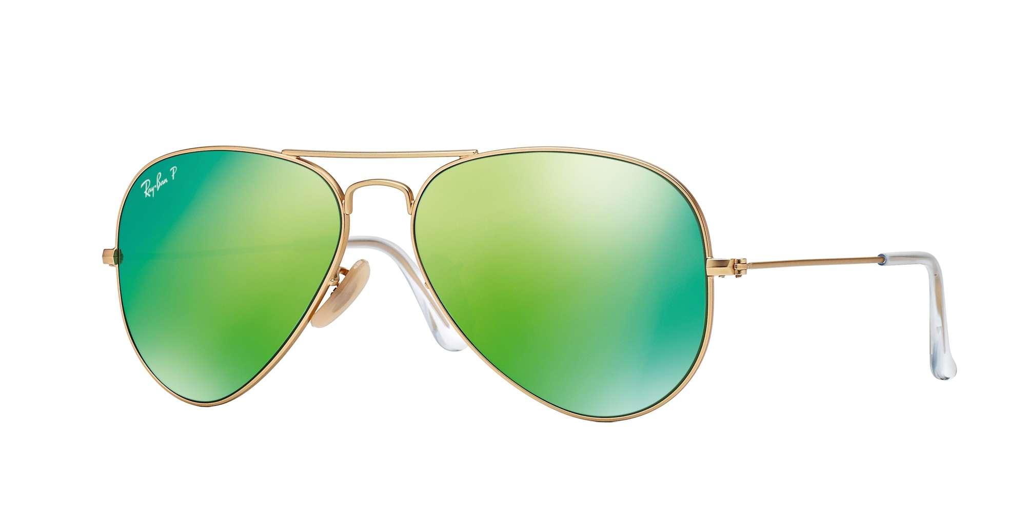 MATTE GOLD / Green Mirror Polarized lenses