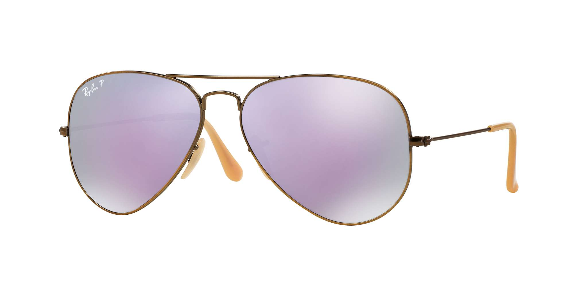 BRUSHED BRONZE DEMISHINY / GREY MIRROR LILAC POLAR lenses