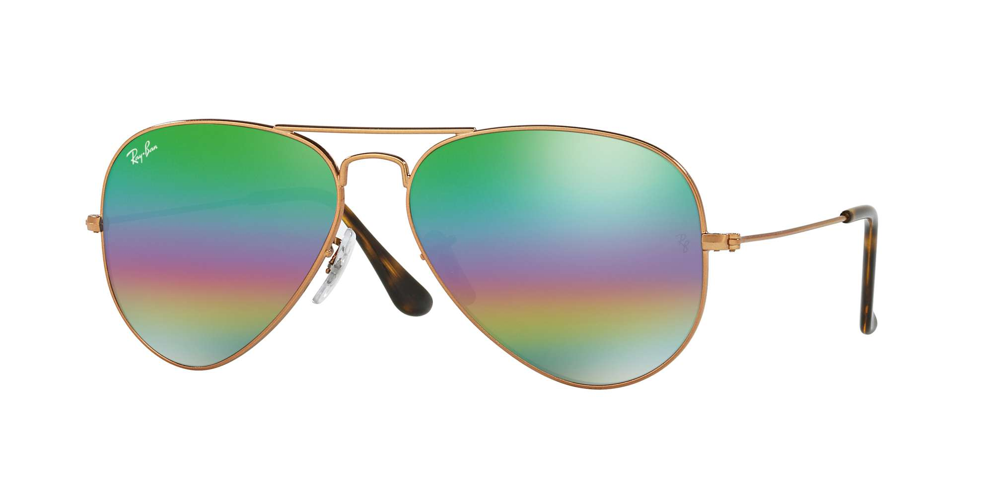 METLALLIC MEDIUM BRONZE / LIGHT GREY MIRROR RAINBOW 2 lenses