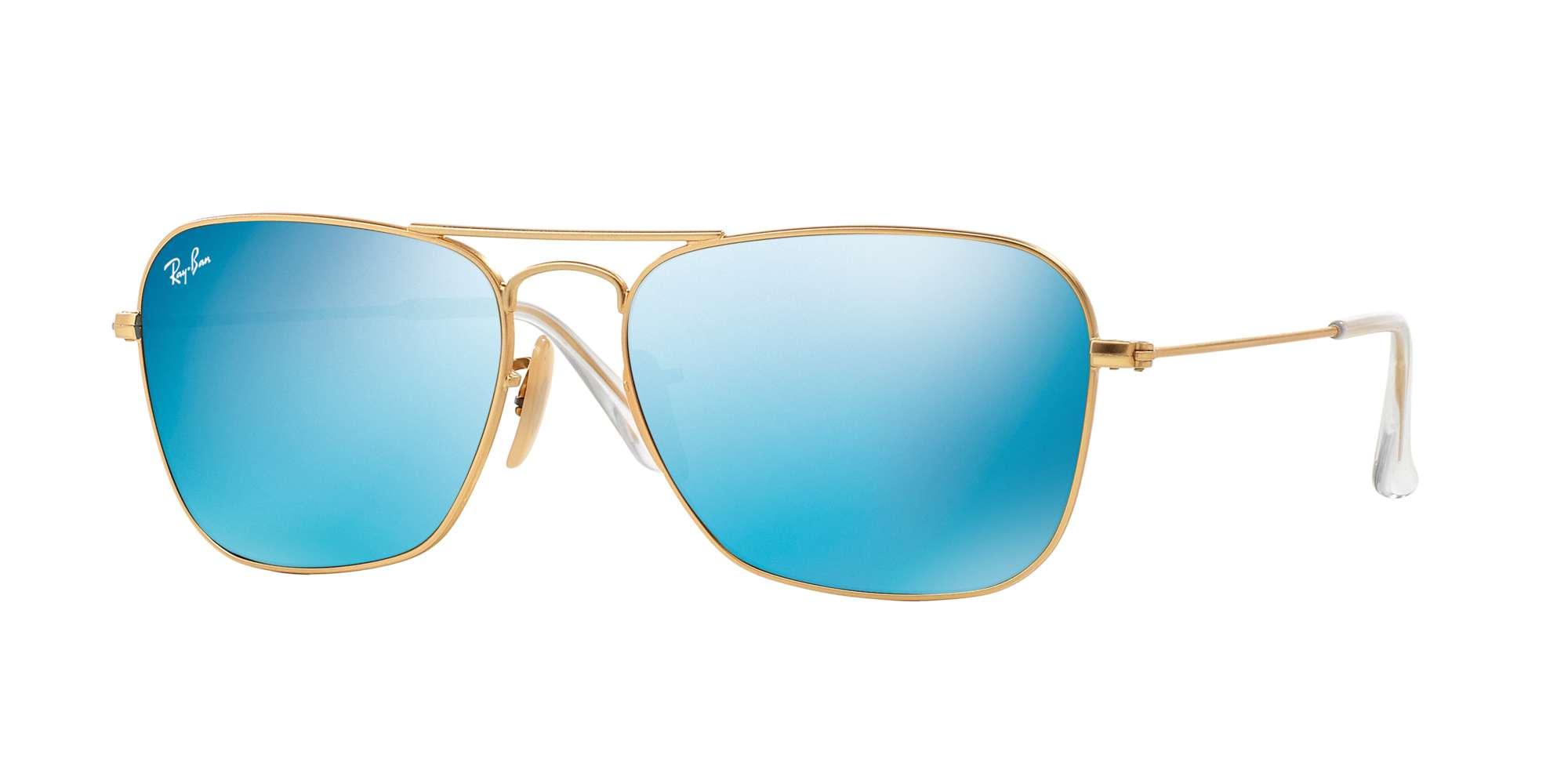 MATTE GOLD / GREY MIRROR BLUE lenses