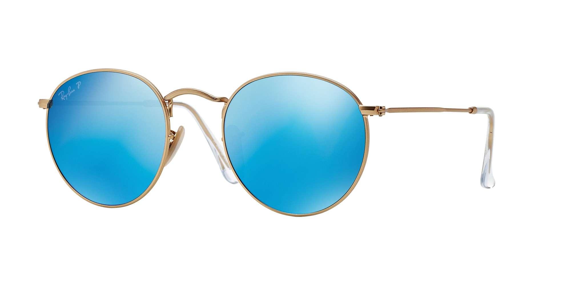 MATTE GOLD / BLUE MIRROR POLAR lenses