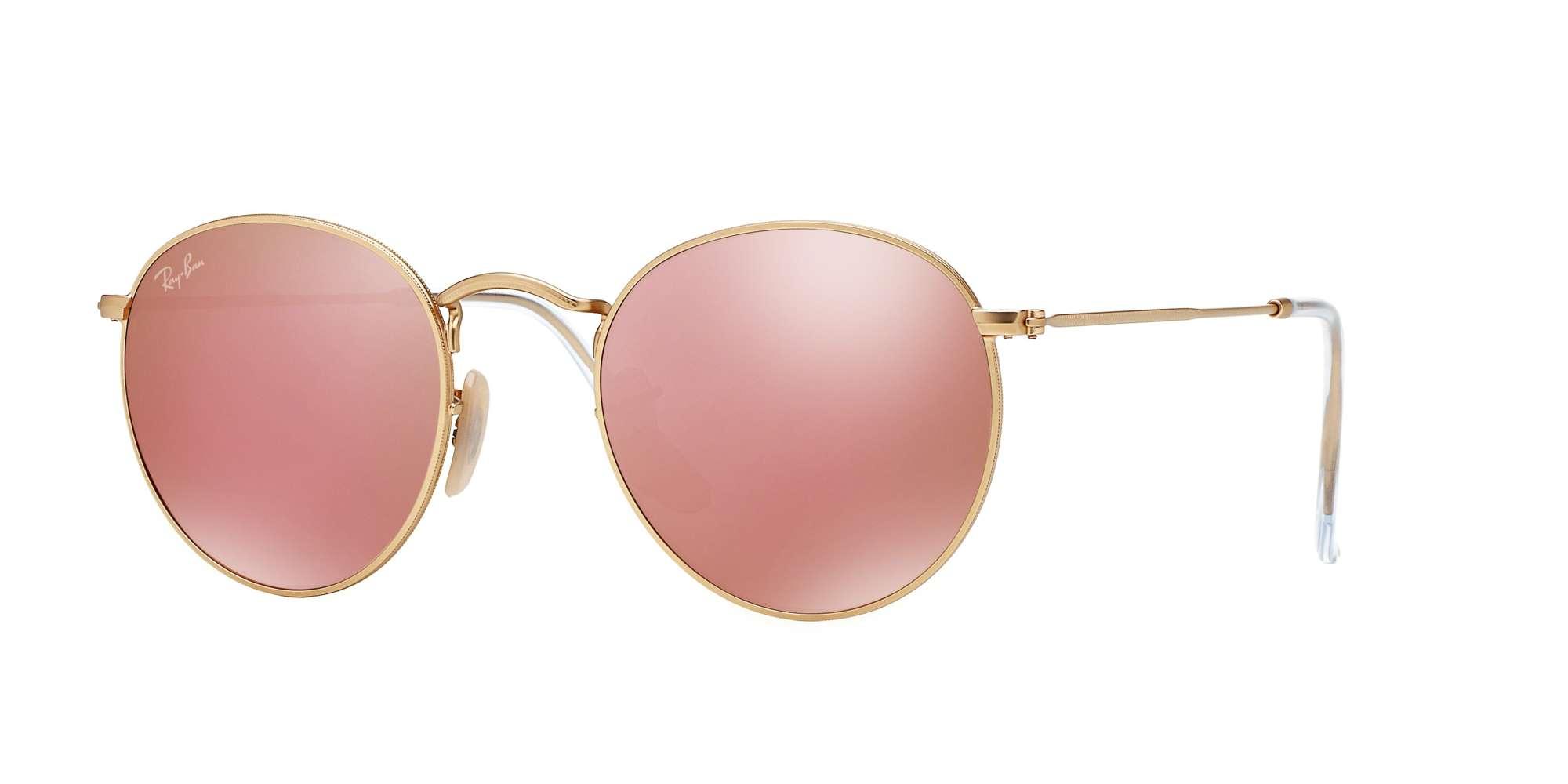 MATTE GOLD / BROWN MIRROR PINK lenses