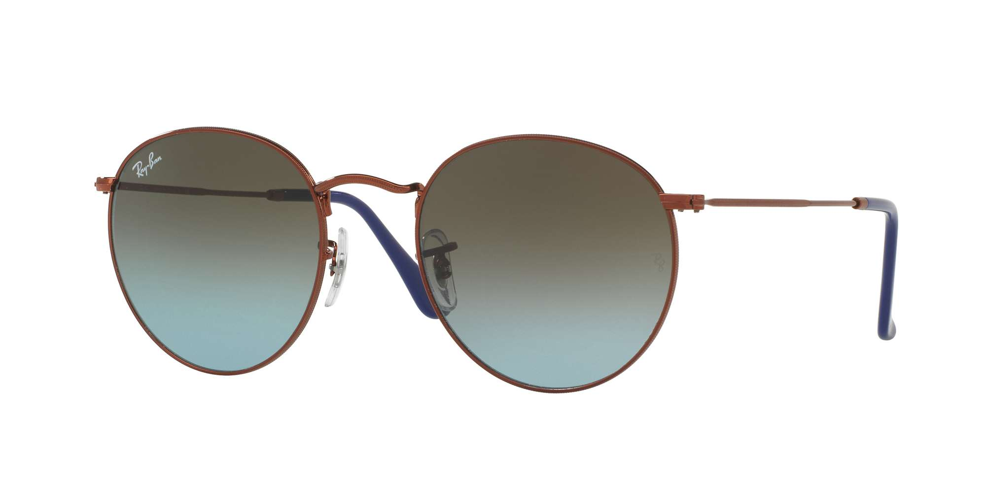 SHINY DARK BRONZE / BLUE GRADIENT BROWN lenses