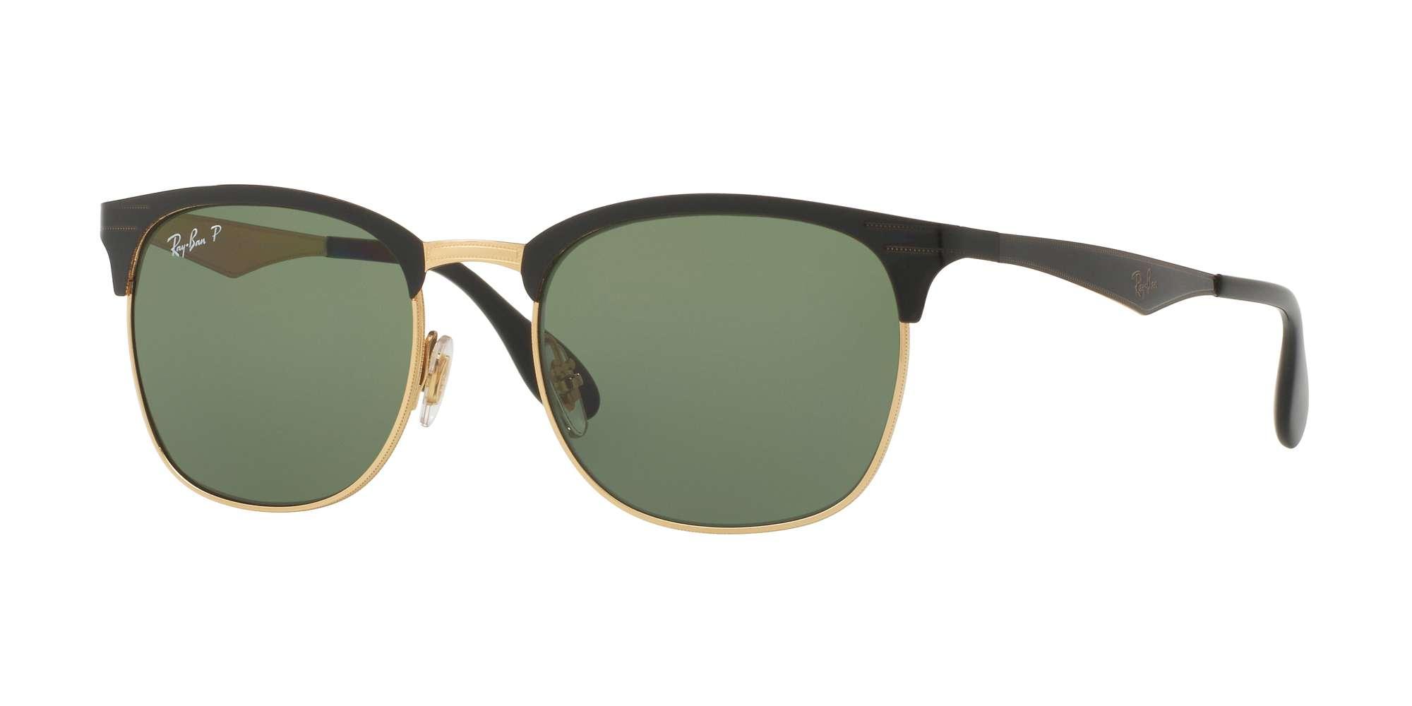 TOP SHINY BLACK ON GOLD / DARK GREEN POLAR lenses