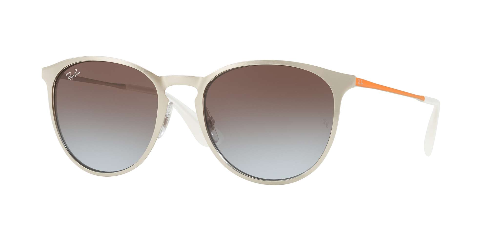BRUSCHED SILVER / LIGHT BLUE GRADIENT BROWN lenses