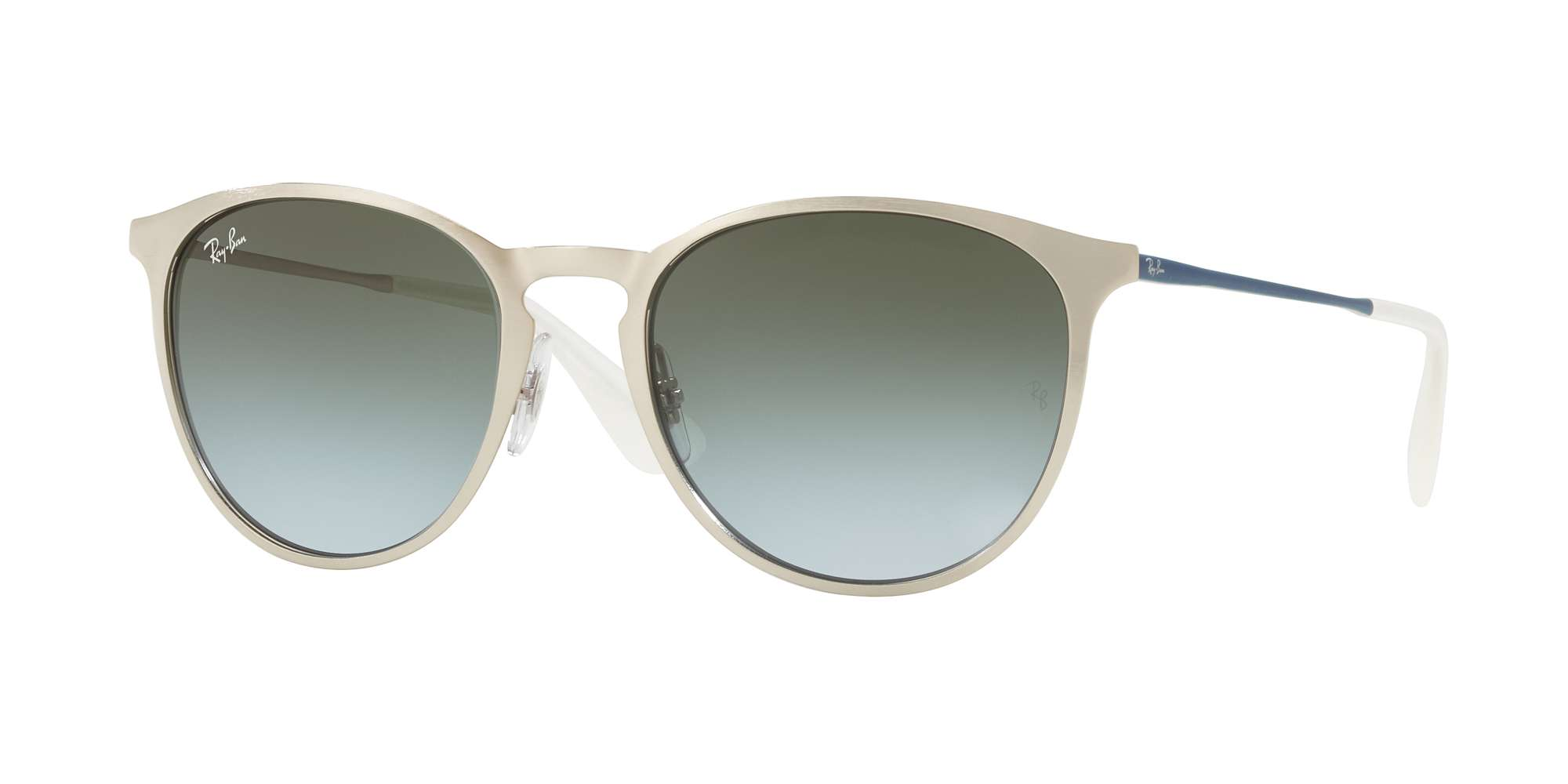 BRUSCHED SILVER / LIGHT BLUE GRADIENT GREEN lenses