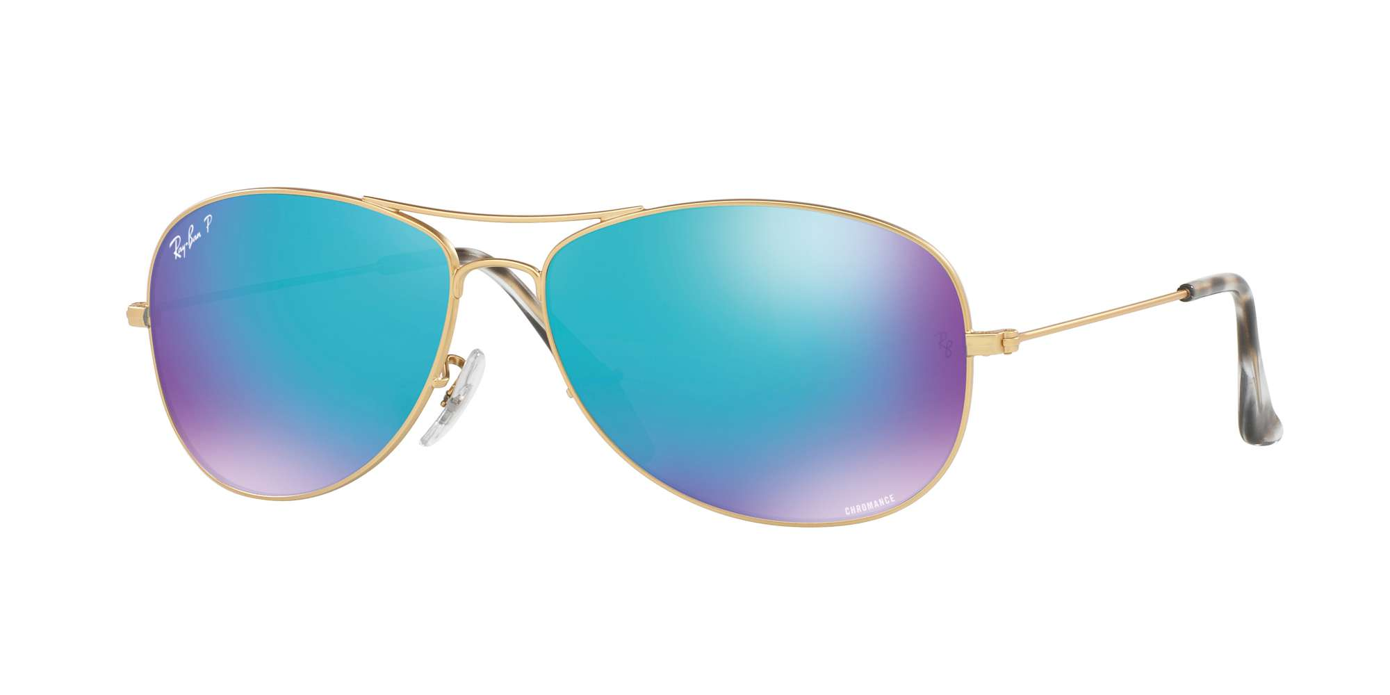 MATTE GOLD / BLUE POLAR FLASH lenses