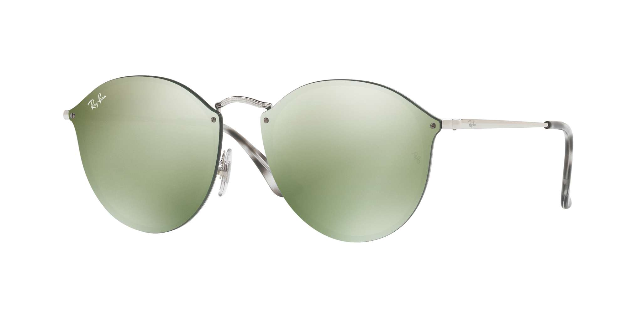 SILVER / DARK GREEN MIRROR SILVER lenses