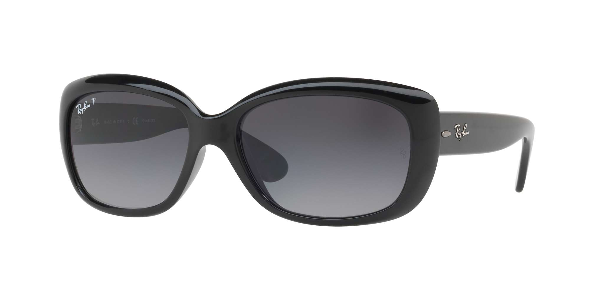 SHINY BLACK / GREY GRADIENT DARK GREY POLAR lenses