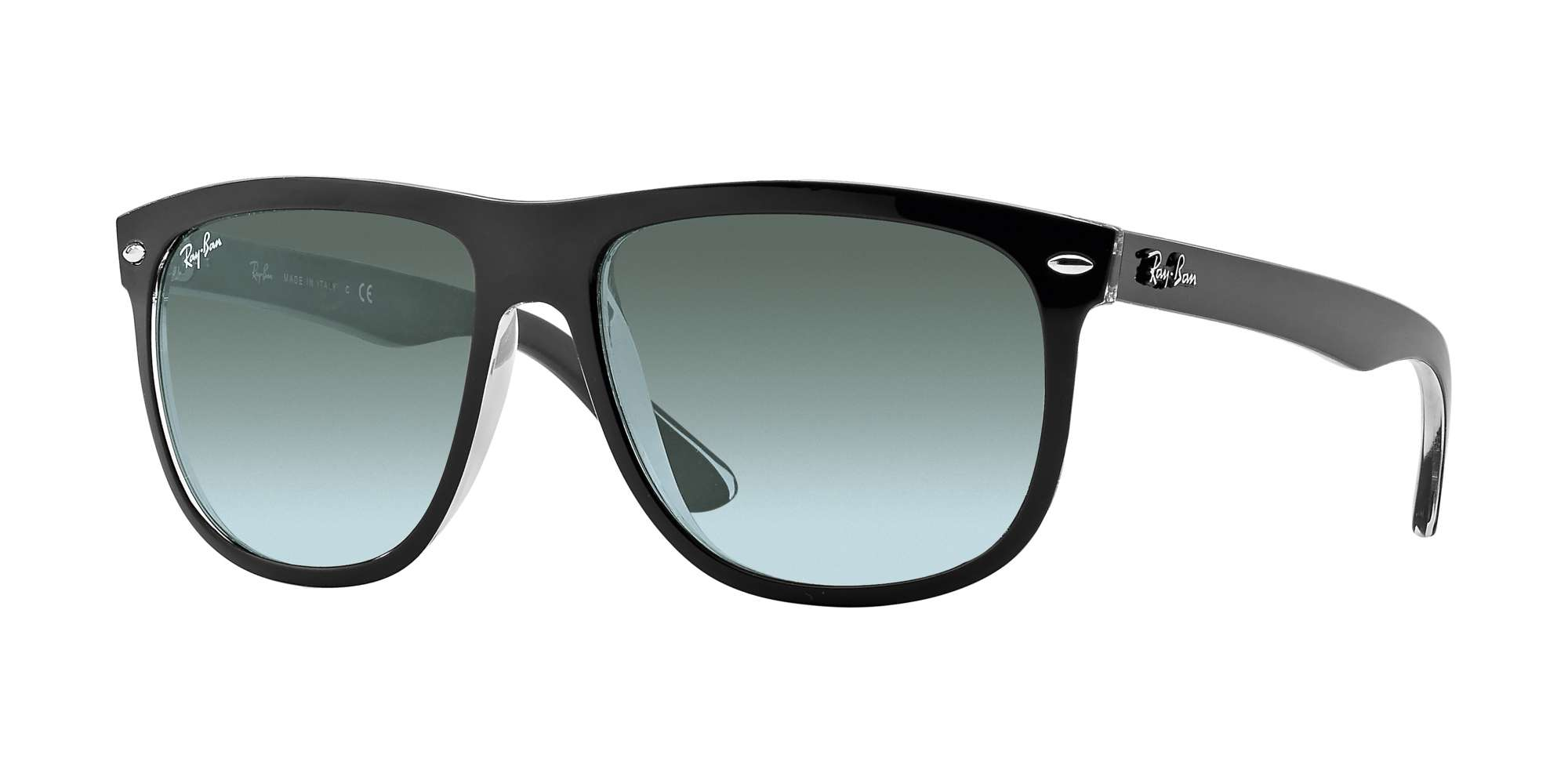 TOP BLACK ON TRANSPARENT / GREY GRADIENT DARK GREY lenses