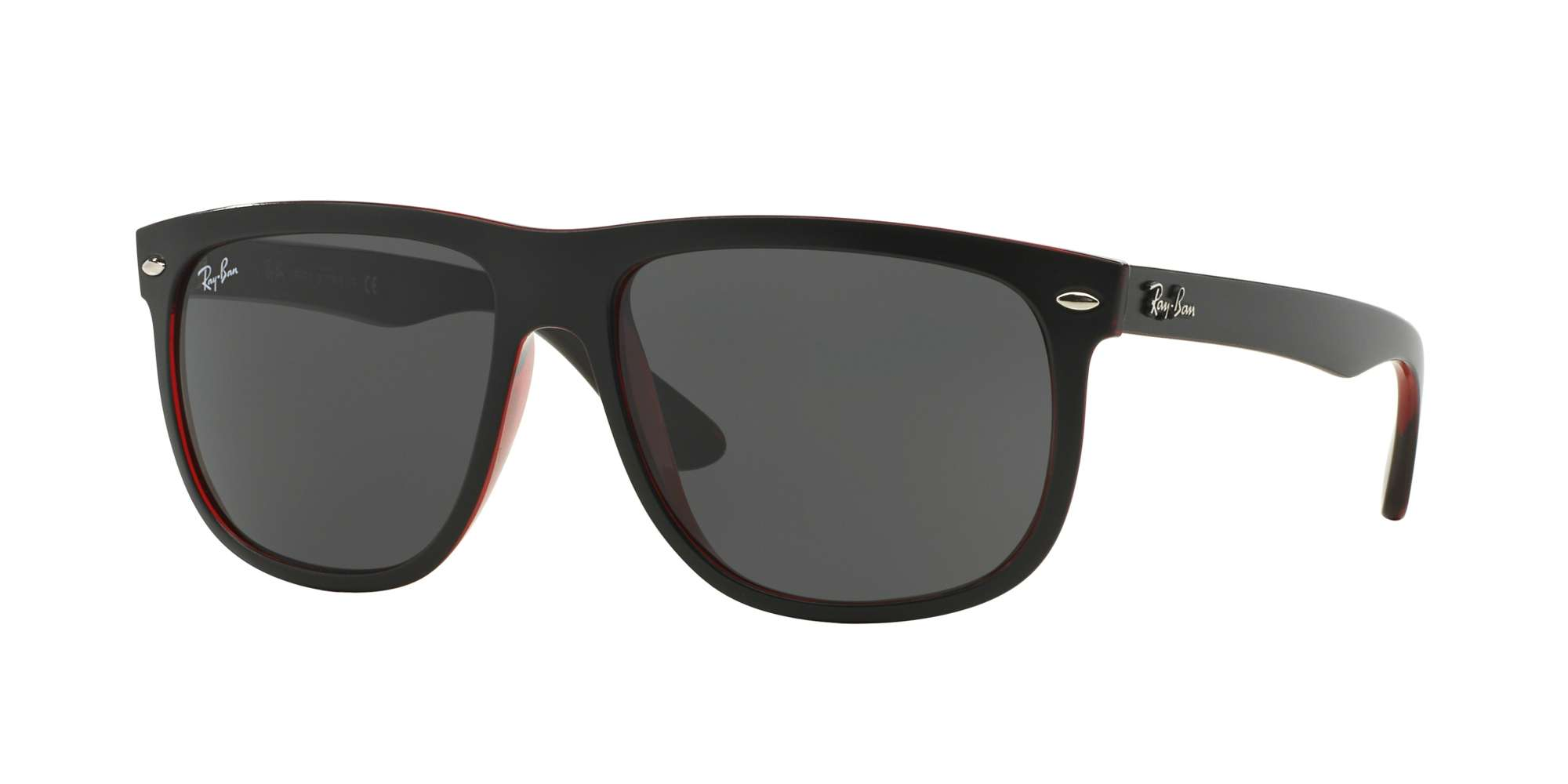 TOP MAT BLACK ON RED TRA / DARK GREY lenses