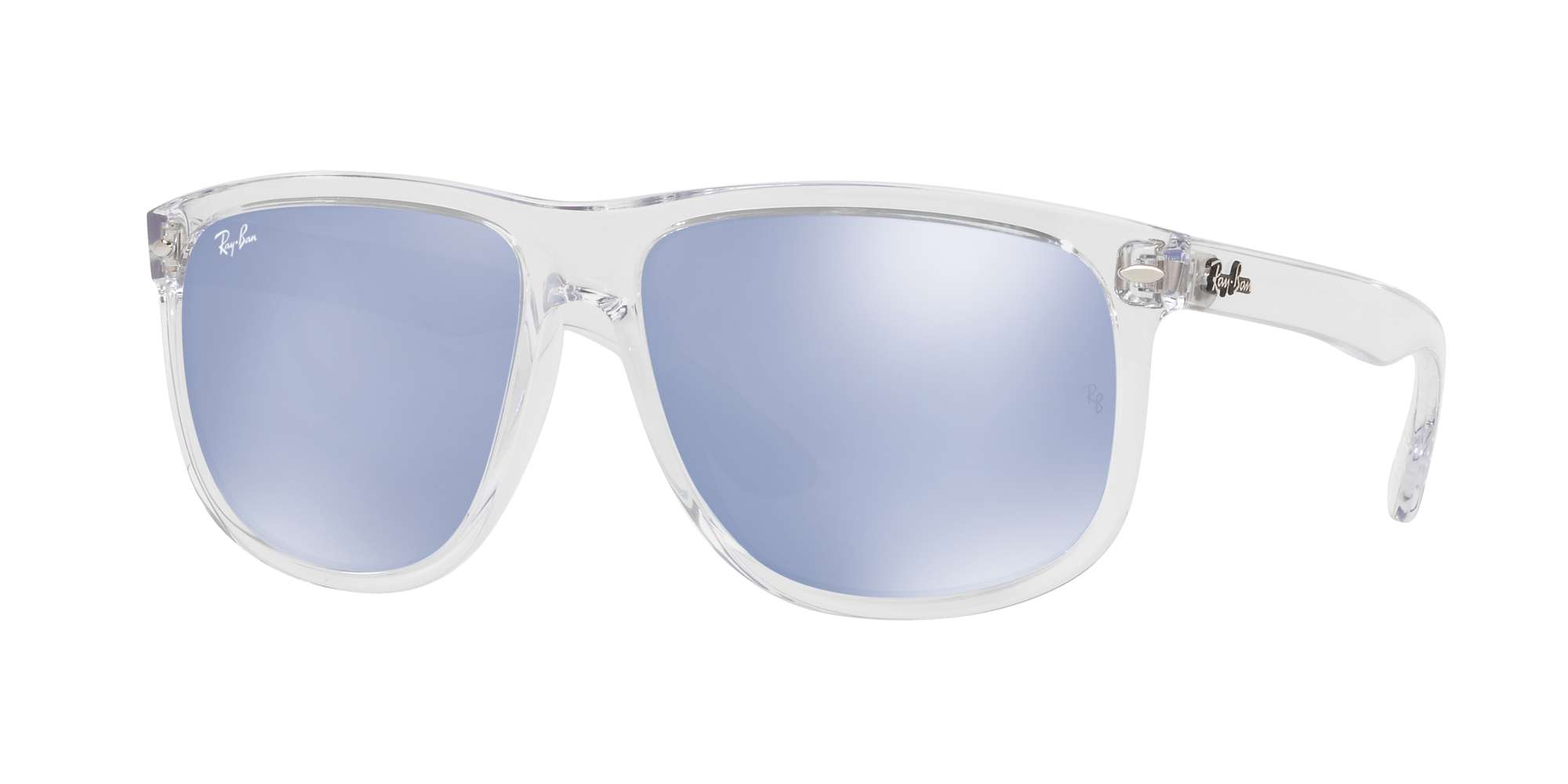 TRASPARENT / BLUE FLASH SILVER lenses