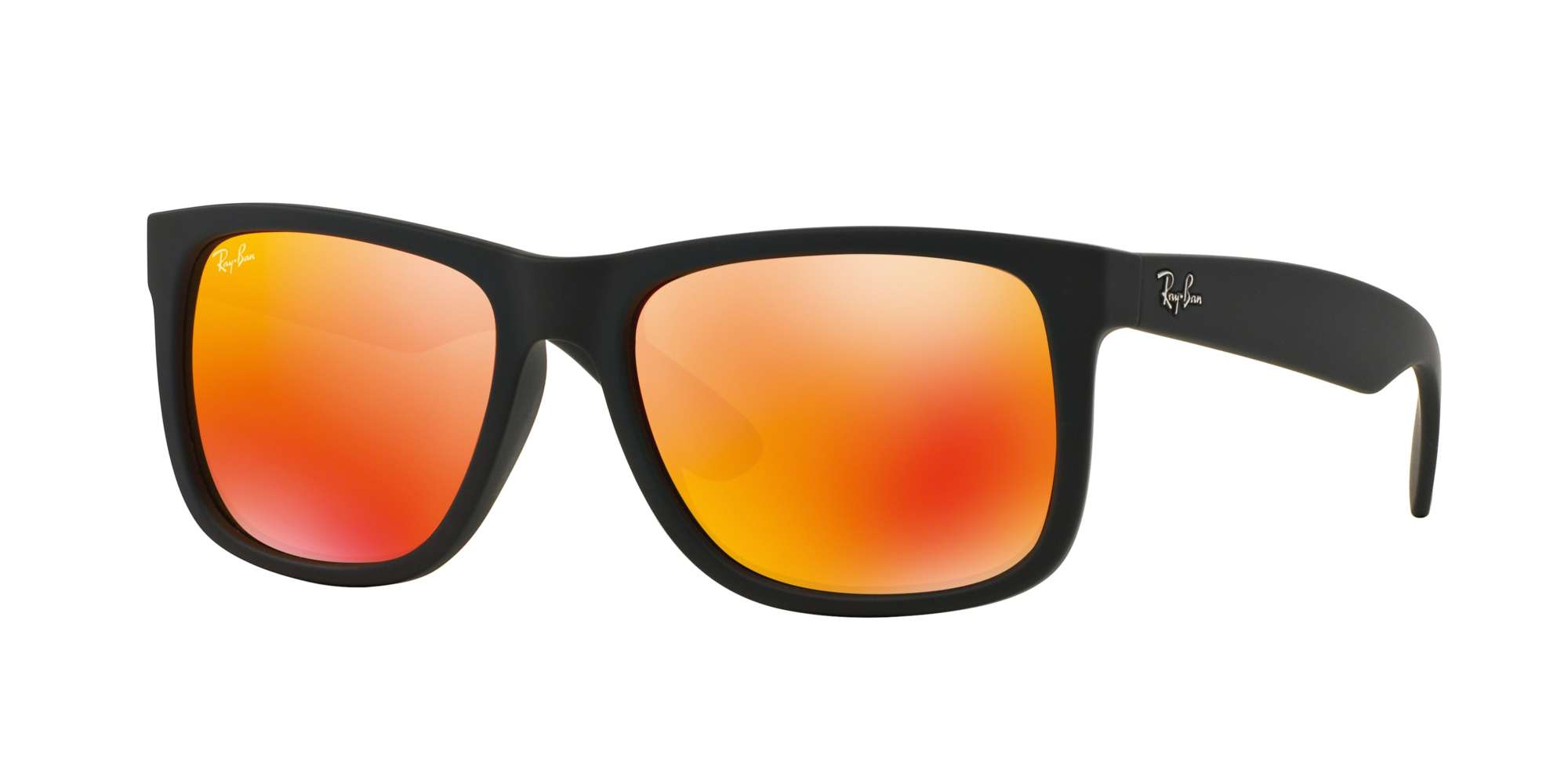 Black Rubber / BROWN MIRROR ORANGE lenses