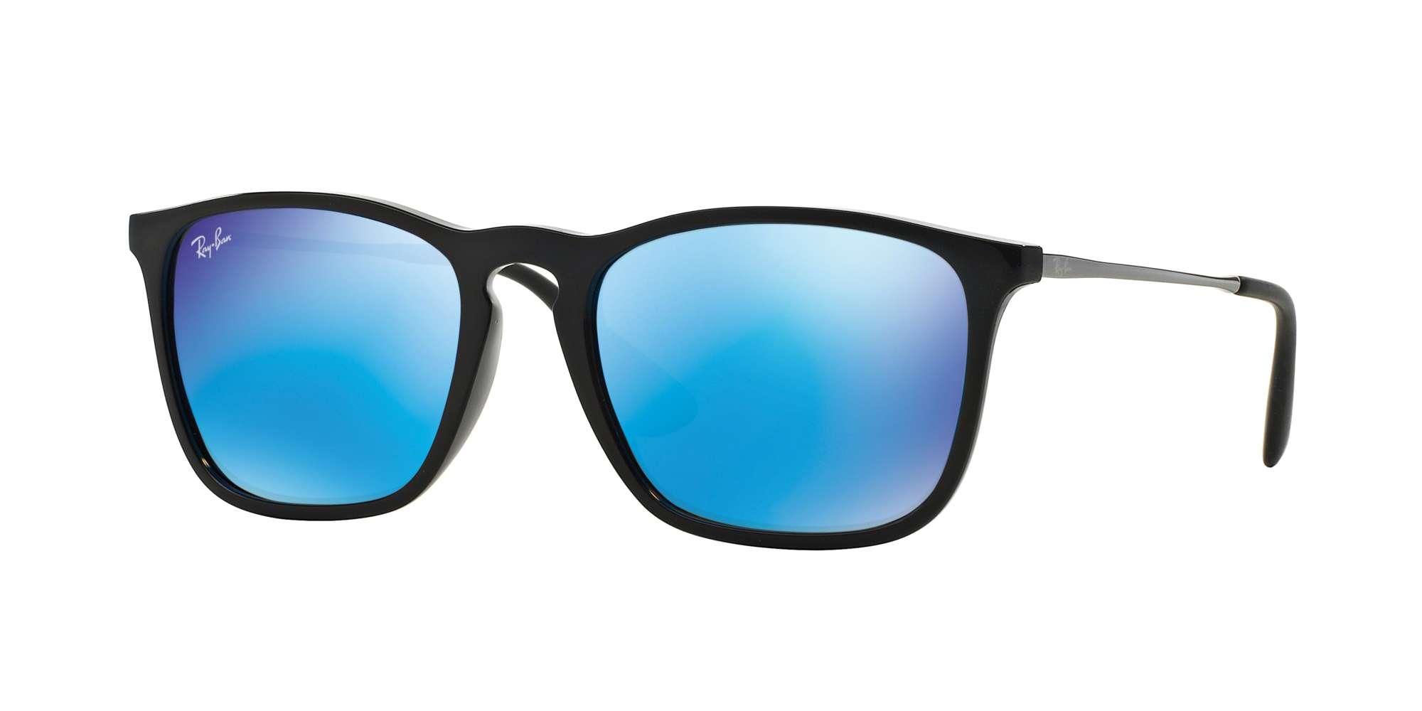 BLACK / LIGHT GREEN MIRROR BLUE lenses