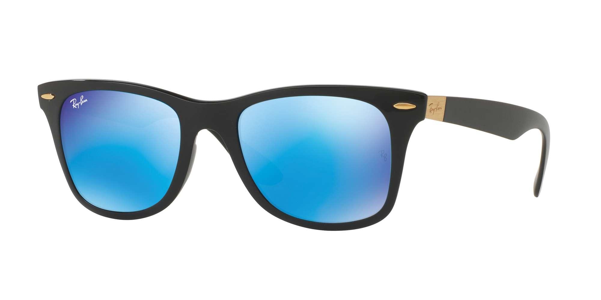MATTE BLACK / BLUE FLASH lenses