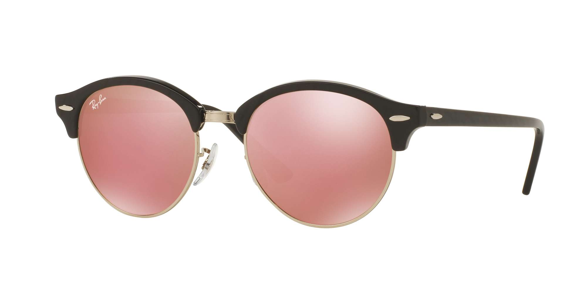 TOP WRINKLED BLACK ON BL / BROWN MIRROR PINK lenses