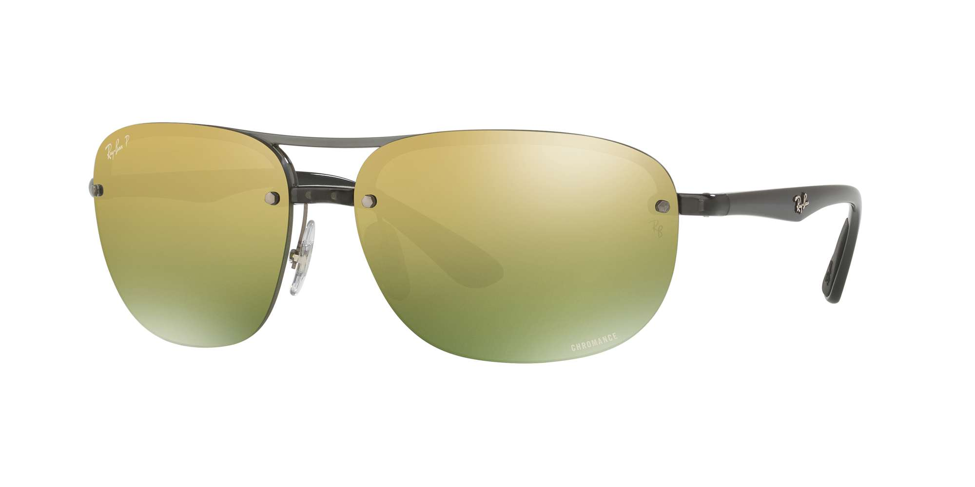 SHINY GREY / GREEN MIR GOLD GRADIENT POLAR lenses