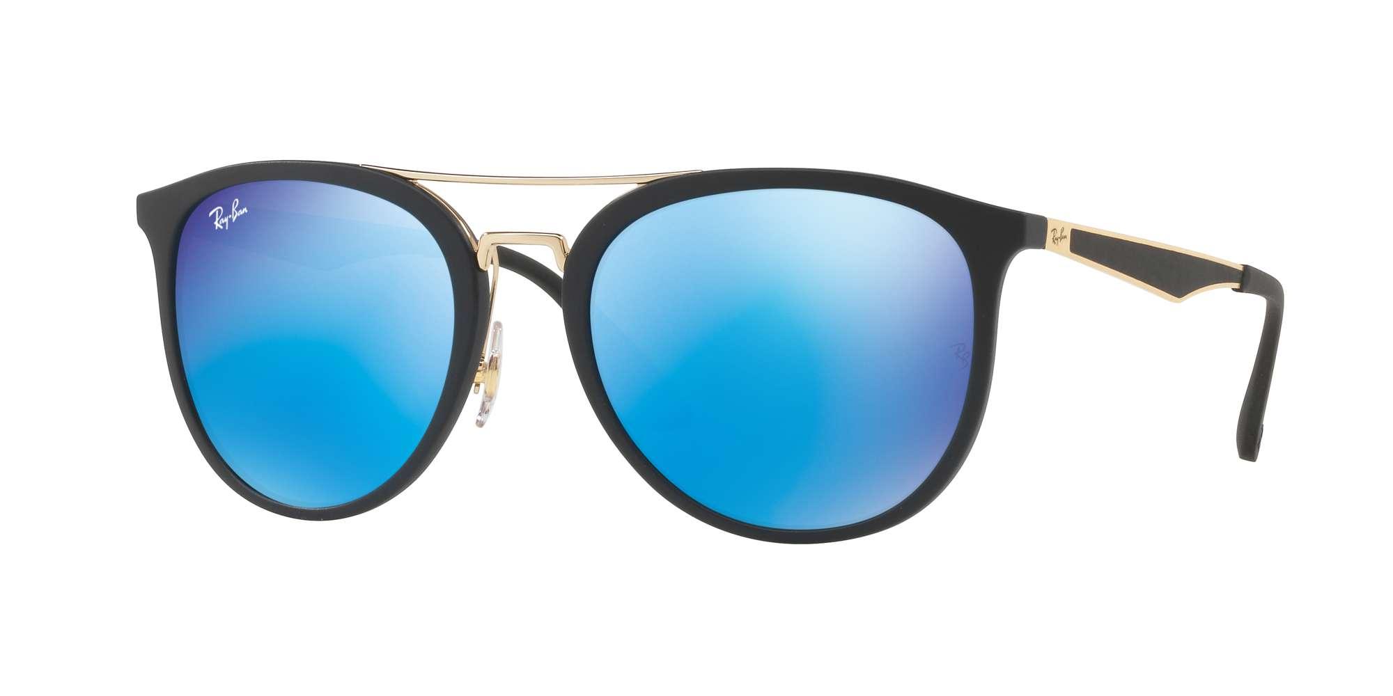 MATTE BLACK / LIGHT GREEN MIRROR BLUE lenses