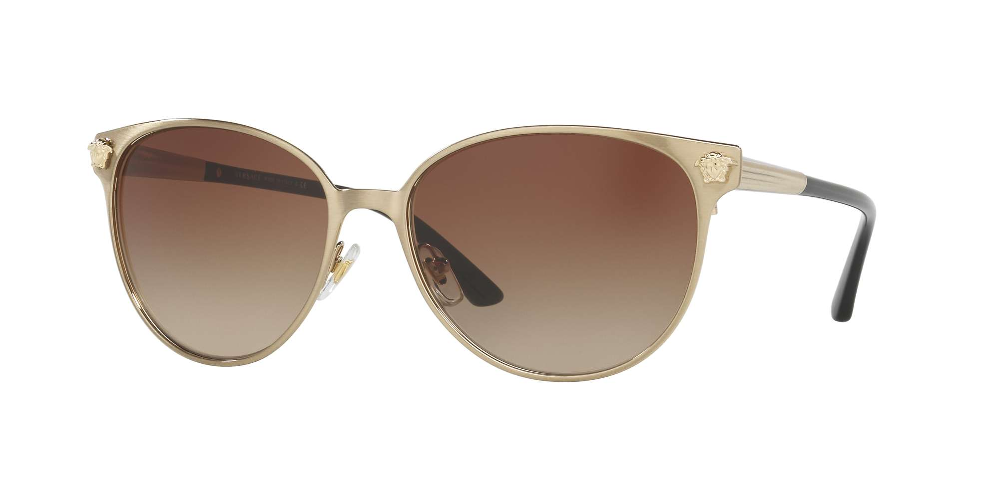 BRUSHED PALE GOLD / BROWN GRADIENT lenses
